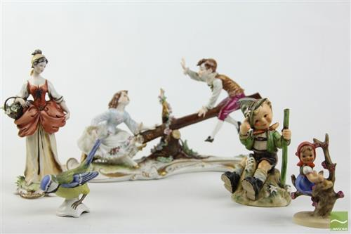 Group Of Hummel Figures And Others Incl Italian And See Saw Game