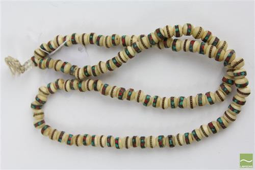 Tibetan cream coloured Mala beaded necklace