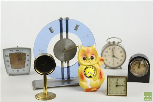 Vintage Small Smiths Clock And Others Incl German Example