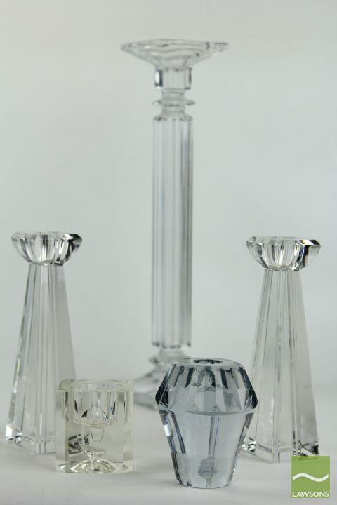 Waterford Crystal Pair of Candle Holders with Others inc Bohemian