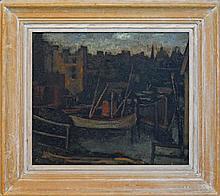 Desiderius Orban (1884 - 1986) - Lavendar Bay, Sydney 45 x 52cm