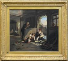 Artist Unknown (19Cth European School) - Playing with Kittens 47.5 x 55cm