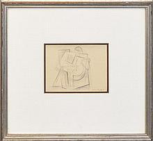 Frank Hinder (1906 - 1992) - C.R.T.S. Student, Strathfield 14 x 18cm