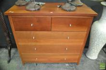 Modern Timber Chest of Five Drawers