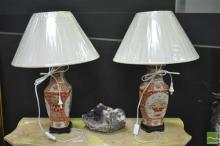 Pair of Basket Decoration Table Lamps (4533)