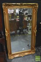 Ornate Gilt Framed Bevelled Edge Mirror