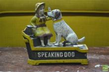 Cast Iron Money Box of Speaking Dogs