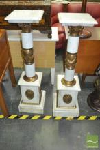 Pair of Marble Pedestals