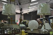 Pair of Metal Based Table Lamps (5544)