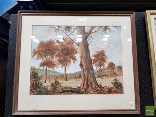 William Clarke - Australia Country Scene 48x63cm