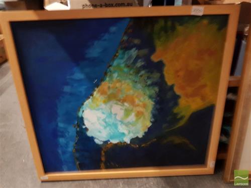 Jim Keller (2 works) - Terrestrial Calamity; Cumulus, Terror and Agua frame sizes: 30 x 68cm; 61.5 x 58cm
