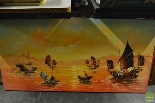 2 Artworks Depicting Sailing Ships
