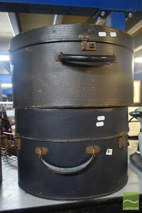 Pair Of Hat Travel Boxes