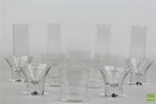 Pukeberg Glass Ware inc 4 Tall Parfait, 6 Tumblers and 4 Short Parfait Glasses