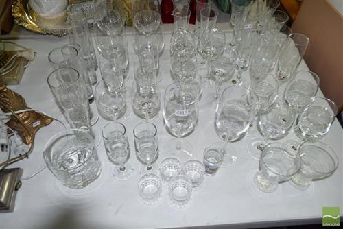 Collection of Glassware incl Bohemia Etched Glass Examples