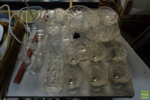 Collection of Glasswares incl Butter Dish