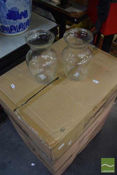 3 Boxes of Vases