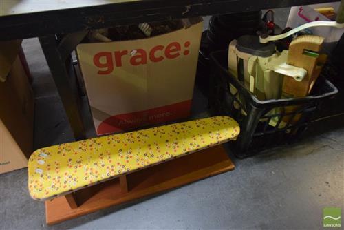 Vintage Small Ironing Board & Wattle Wringer (2)