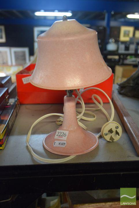Pink Bakelite Table Lamp