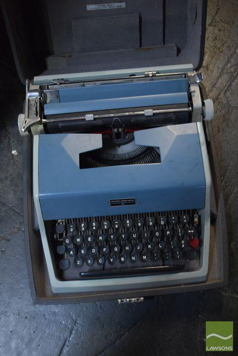 Cased Olivetti Typewriter