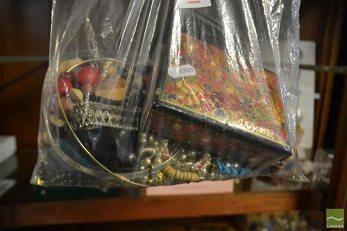 Bag of Costume Jewellery incl box