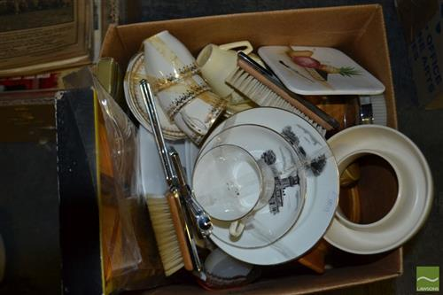 Box of Crockery incl Grindley, Nefertiti and table mat sets etc