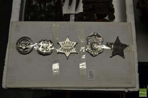 5 Assorted Badges and Brooches