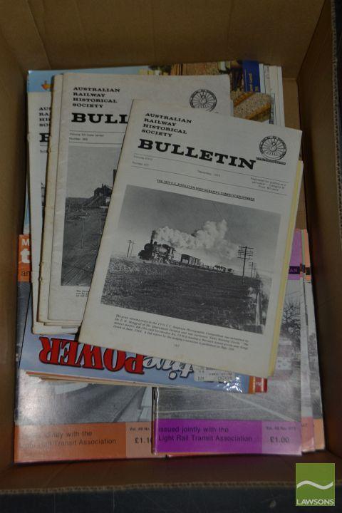 Box of Magazines incl Australian Railway Historical Society Bulletin etc