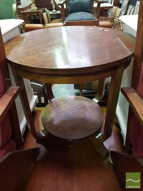 Art Deco Tiered Side Table