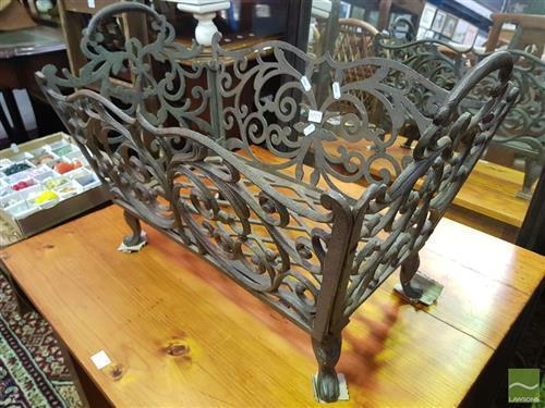 Cast Metal Kindling Basket