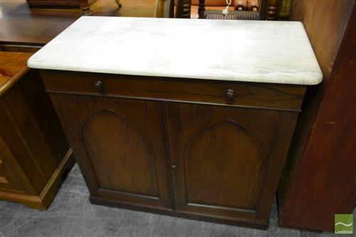 Marble Top Credenza with 2 Doors