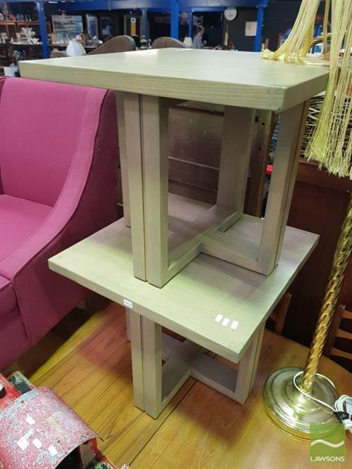 Pair of Modern Timber Side Tables