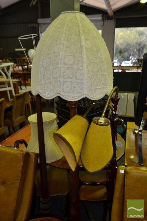 Three Varied Standard Lamps