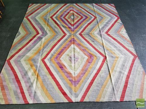 Cadrys Afghan Contemporary Kilim Rug (298 x 262cm)