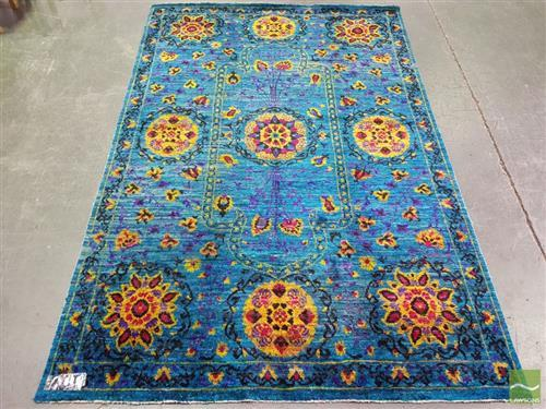 Cadrys Indian Sari Silk Rug (251 x 168cm)