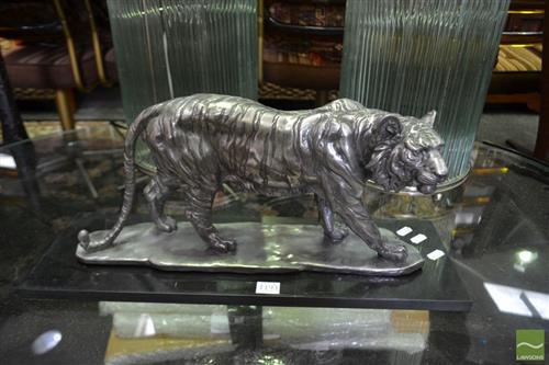 Tiger Silver Coloured Figure