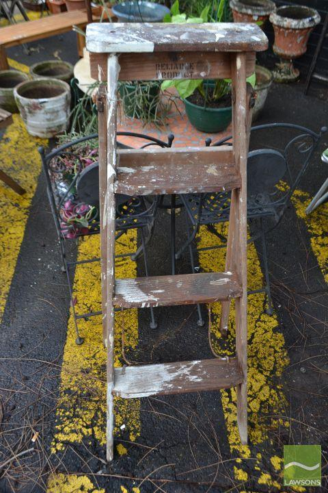 Small Timber Step ladder