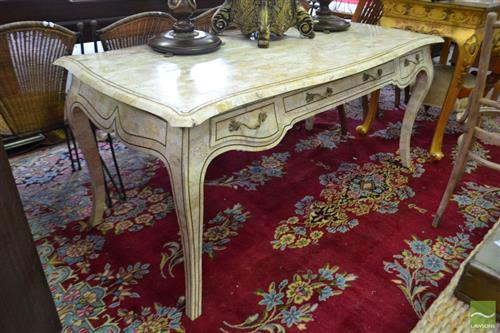 French Style Marble Clad Desk