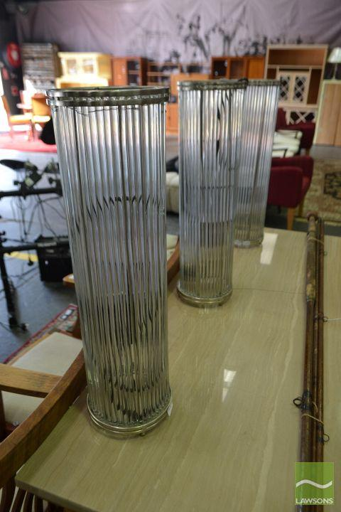 Set of 3 Glass Table Lamps