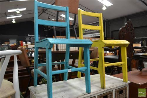 Pair of Painted Kids Chairs