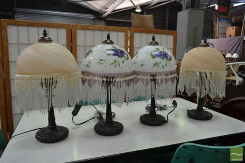 Glass table Lamps x 4