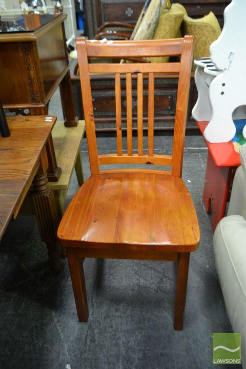 Set of Four Timber Dining Chairs