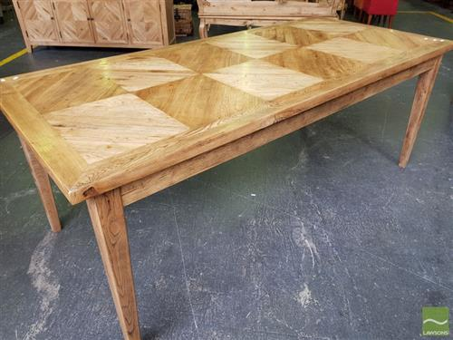 Oak Parquetry Dining Table (200cm)