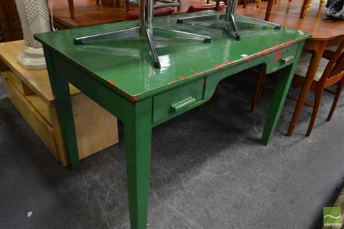 Rustic Green Timber Desk