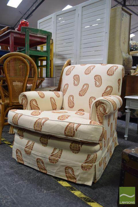Paisley Upholstered Lounge Chair