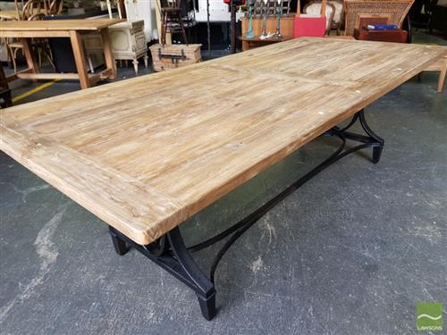 Industrial Iron Leg Dining Table (245cm)