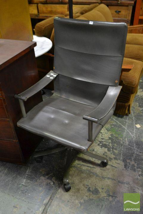 Polflex Leather Office Chair - Made in Italy