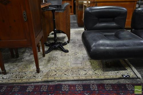 Large Black and Gold Floor Rug