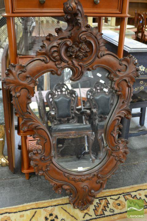 Hardwood Hand Carved Mirror