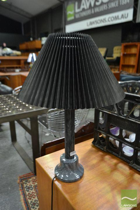 Pair of Black Marble Table Lamps (2100BLK)